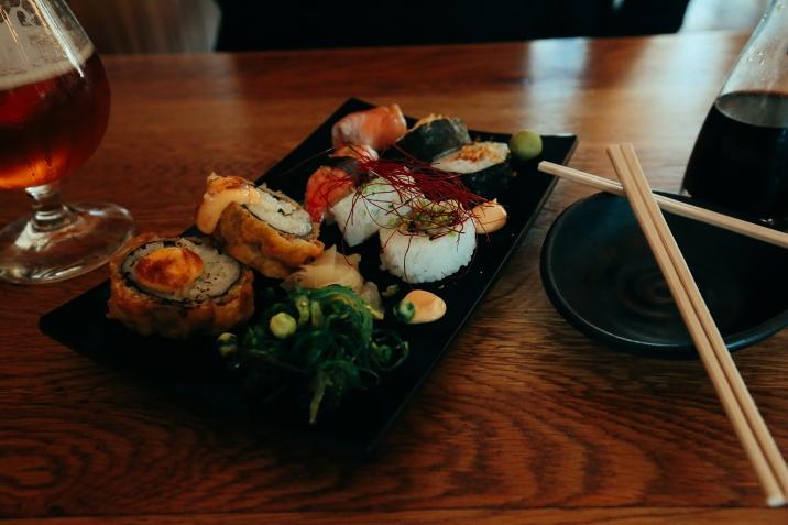 Sushis frais de la pêche du jour