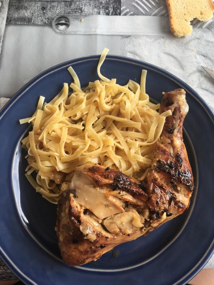 poulet sauce chien